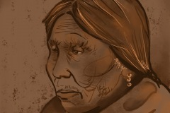 Portrait of an elder medicine woman - Jennifer Reida